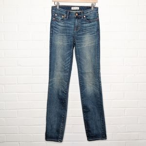 Madewell Alley Straight Leg Jeans Distressed 27
